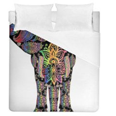 Prismatic Floral Pattern Elephant Duvet Cover (queen Size) by Nexatart