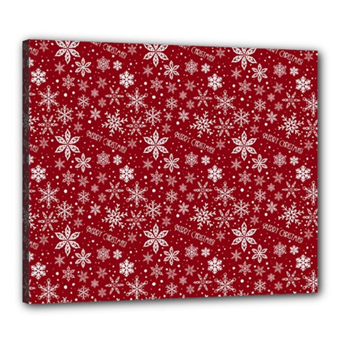 Merry Christmas Pattern Canvas 24  X 20
