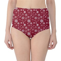 Merry Christmas Pattern High Waist Bikini Bottoms