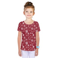 Merry Christmas Pattern Kids  One Piece Tee