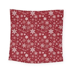 Merry Christmas Pattern Square Tapestry (small) by Nexatart