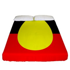 Flag Of Australian Aborigines Fitted Sheet (queen Size) by Nexatart