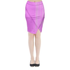 Lines Midi Wrap Pencil Skirt by ValentinaDesign