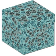 Abstract Aquatic Dream Storage Stool 12   by Ivana