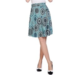 Abstract Aquatic Dream A Line Skirt by Ivana