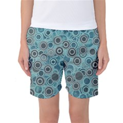 Abstract Aquatic Dream Women s Basketball Shorts