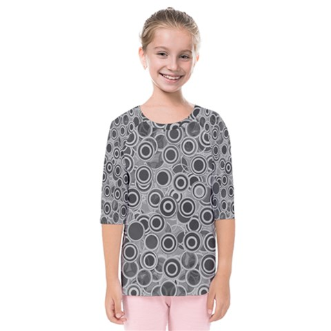 Abstract Grey End Of Day Kids  Quarter Sleeve Raglan Tee by Ivana