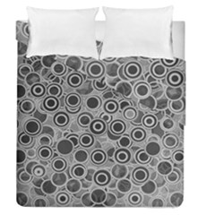 Abstract Grey End Of Day Duvet Cover Double Side (queen Size) by Ivana