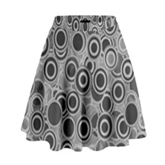 Abstract Grey End Of Day High Waist Skirt by Ivana