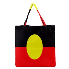 Flag Of Australian Aborigines Grocery Tote Bag by Nexatart