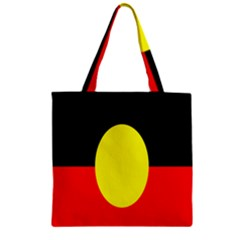 Flag Of Australian Aborigines Zipper Grocery Tote Bag by Nexatart