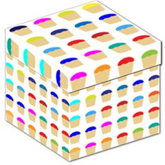 Colorful Cupcakes Pattern Storage Stool 12   by Nexatart