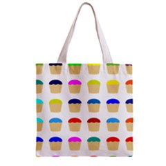 Colorful Cupcakes Pattern Zipper Grocery Tote Bag by Nexatart