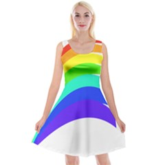 Rainbow Reversible Velvet Sleeveless Dress