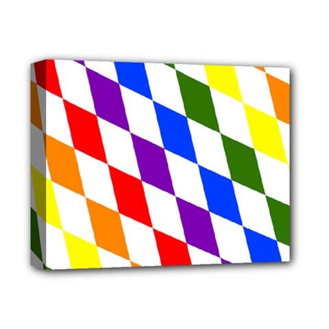 Rainbow Flag Bavaria Deluxe Canvas 14  X 11  by Nexatart