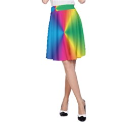 Rainbow Seal Re Imagined A Line Skirt