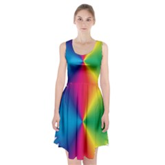 Rainbow Seal Re Imagined Racerback Midi Dress