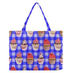 Cake Pattern Medium Zipper Tote Bag by Nexatart