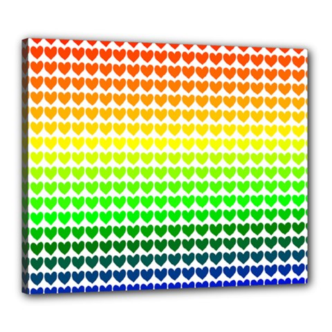 Rainbow Love Canvas 24  X 20  by Nexatart