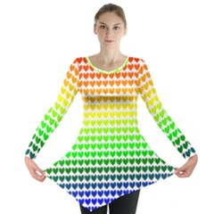 Rainbow Love Long Sleeve Tunic