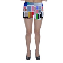 Texture Package Skinny Shorts by Nexatart