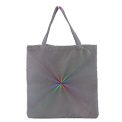 Square Rainbow Grocery Tote Bag