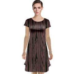 Grain Woody Texture Seamless Pattern Cap Sleeve Nightdress