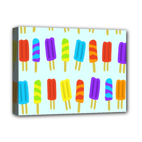 Popsicle Pattern Deluxe Canvas 16  X 12