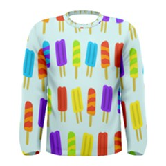 Popsicle Pattern Men s Long Sleeve Tee