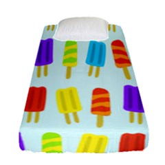 Popsicle Pattern Fitted Sheet (single Size) by Nexatart