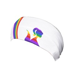 Rainbow Fairy Relaxing On The Rainbow Crescent Moon Yoga Headband