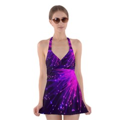 Big Bang Halter Swimsuit Dress by ValentinaDesign