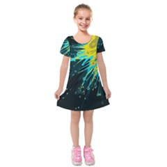 Big Bang Kids  Short Sleeve Velvet Dress by ValentinaDesign