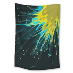 Big Bang Large Tapestry by ValentinaDesign
