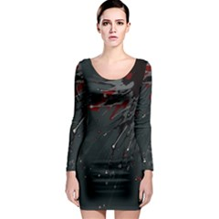Big Bang Long Sleeve Bodycon Dress by ValentinaDesign