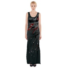 Big Bang Maxi Thigh Split Dress by ValentinaDesign