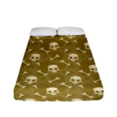 Skull Pattern 1 Fitted Sheet (full/ Double Size) by tarastyle
