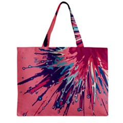 Big Bang Zipper Mini Tote Bag by ValentinaDesign