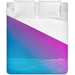 With Wireframe Terrain Modeling Fabric Wave Chevron Waves Pink Blue Duvet Cover (california King Size) by Mariart