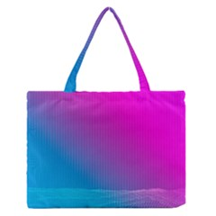 With Wireframe Terrain Modeling Fabric Wave Chevron Waves Pink Blue Medium Zipper Tote Bag by Mariart