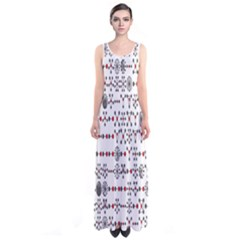 Bioplex Maps Molecular Chemistry Of Mathematical Physics Small Army Circle Sleeveless Maxi Dress by Mariart