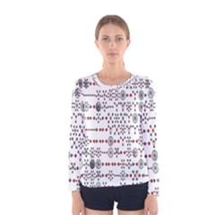 Bioplex Maps Molecular Chemistry Of Mathematical Physics Small Army Circle Women s Long Sleeve Tee