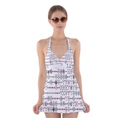 Bioplex Maps Molecular Chemistry Of Mathematical Physics Small Army Circle Halter Swimsuit Dress by Mariart