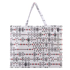 Bioplex Maps Molecular Chemistry Of Mathematical Physics Small Army Circle Zipper Large Tote Bag by Mariart