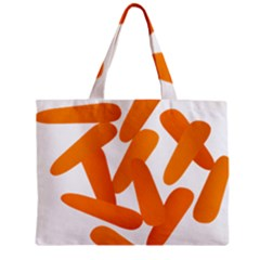 Carrot Vegetables Orange Zipper Mini Tote Bag by Mariart