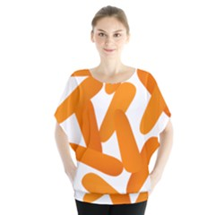 Carrot Vegetables Orange Blouse by Mariart