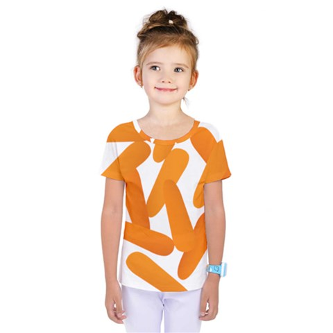 Carrot Vegetables Orange Kids  One Piece Tee by Mariart