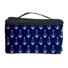 Blue White Anchor Cosmetic Storage Case by Mariart
