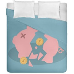 Coins Pink Coins Piggy Bank Dollars Money Tubes Duvet Cover Double Side (california King Size) by Mariart