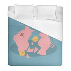 Coins Pink Coins Piggy Bank Dollars Money Tubes Duvet Cover (full/ Double Size) by Mariart